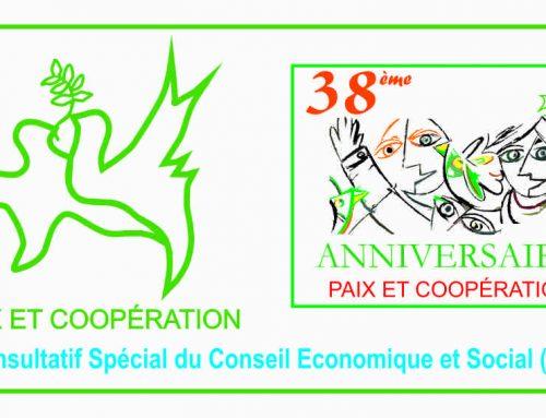 PAIX ET COOPÉRATION: une Organisation Non Gouvernemental avec Statut Consultatif Spécial Conseil Économique et Social (ECOSOC) auprès des Nations Unies