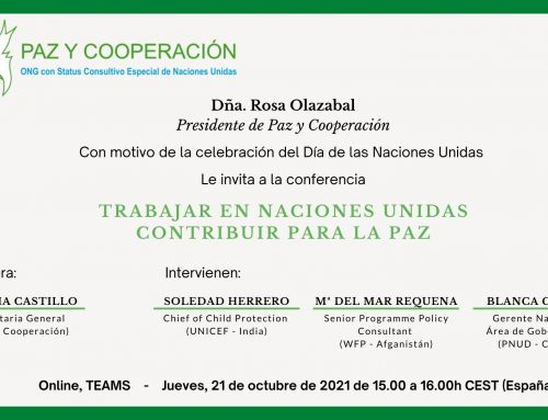 INVITACIÓN CONFERENCIA CELEBRACIÓN DÍA NACIONES UNIDAS